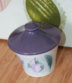 Covered Sugar Bowl in Dusk Pattern by Jo Gorman for Portmeirion Pottery. by AtticBazaar on Etsy Portmeirion Pottery, Sugar Bowl, Dusk, Handmade Gifts, Pattern, Decor, Kid Craft Gifts, Decoration, Craft Gifts
