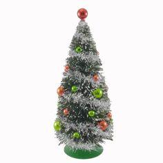 "Christmas Tree : Christmas 10.5"" GREEN CHRISTMAS TREE Sisal, Tinsel"