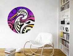 Shane Hansen Kotuku Mural Dot Your Decal shop Collaboration New Zealand Maori Designs, New Zealand Art, Removable Wall Decals, Wall Art Designs, Wall Murals, Wall Stickers, Lounge, Mural Ideas, Artist