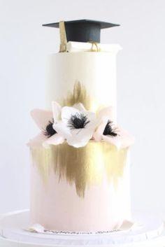 Wedding Cake Inspiration – Starbird Bakehouse – MODwedding - This is my place . Graduation Cake Designs, College Graduation Cakes, Graduation Party Desserts, Graduation Party Planning, Graduation Decorations, Grad Parties, Graduation Cupcakes, Graduation Celebration, School Cake