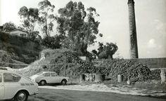 1970 - Fábrica de Ferro de Santo Amaro. Vista da chaminé da antiga fábrica.