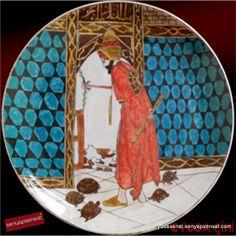 Turkish Fashion, Vintage Plates, Ceramic Decor, Ceramic Painting, Africa, Pottery, Ceramics, Retro, Blue