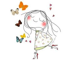 Come visit me any time. Cute Illustration, Watercolor Illustration, Watercolor Art, Stick Figures, Easy Drawings, Cute Cartoon, Rock Art, Doodle Art, Cute Art