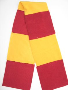 Fleece Scarf  Inspired by Harry Potter Scarlet and Gold by yulco, $5.00