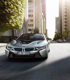 The BMW i8 Plug-in Hybrid Sports Car