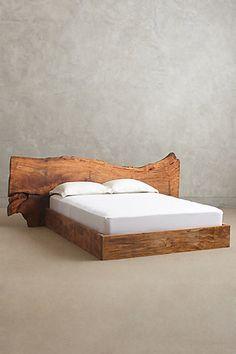 Live Edge Wood Bed - anthropologie.com