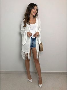 Moda Instagram, Short Outfits, Casual Outfits, Cute Outfits, Sandro, Kimono Outfit, Short Kimono, Outfit Posts, Casual Looks