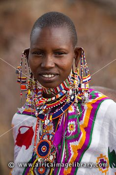 Photos and pictures of: Maasai woman, Selenkay Conservancy, Kenya - The Africa Image Library African Beauty, African Women, African Tribes, We Are The World, People Around The World, Ethnic Fashion, African Fashion, Black Is Beautiful, Beautiful People