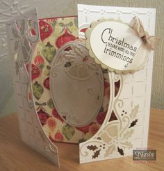 Crafters Companion Ring out those Bells Create a Card Die Fancy Fold Cards, Folded Cards, Handmade Christmas, Christmas Ideas, Holiday Cards, Christmas Cards, Crafters Companion Cards, Card Ideas, Gift Ideas