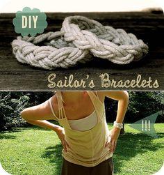 diy sailor's bracelets