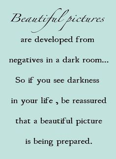 Beautiful pictures from darkness...