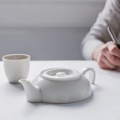 Tea For One, Ceramic Teapot by Droog