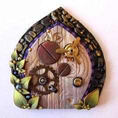 Steampunk Fairy Door Pixie PortalFairy Garden Decor by Claybykim