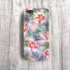 TROPICAL Print Flowers iPhone 5 Case Spring Trends by casesbycsera