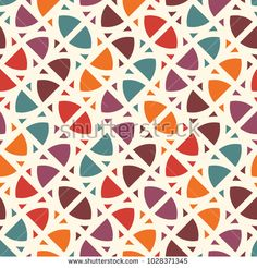 Bright modern print with geometric shapes. Contemporary abstract background with repeated figures. Colorful seamless pattern with geometric forms. Creative concept wallaper. Vector digital paper