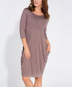 Another great find on #zulily! Cappuccino Drape-Skirt Dress #zulilyfinds