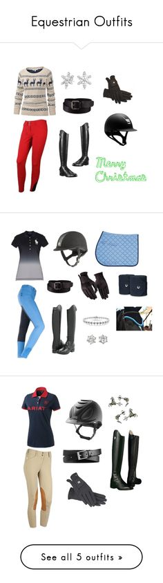 """Equestrian Outfits"" by boomerandmarley ❤ liked on Polyvore featuring Fat Face, Ariat, Uniqlo, Ralph Lauren, Juicy Couture, Miadora, 7 Hills, Smith/Grey, Isabel Marant and Roeckl"