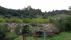 Durnstein castle ruins. I climb up to the ruins.