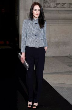 Michelle Dockery Photos: Celebs Arrive at the Armani Show in Paris