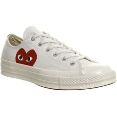 COMME DES GARCONS Converse 70s x play cdg trainers (€130) ❤ liked on 926e4e7eb885