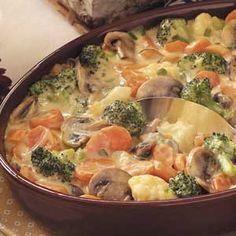 Baked Vegetable Medley Recipe - #Vegetarian  http://www.stockpilingmoms.com/2012/07/baked-vegetable-medley-recipe/
