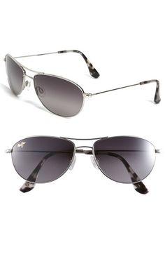 Maui Jim 'Baby Beach - PolarizedPlus2' 56mm Sunglasses Silver/ Ivory Tokyo