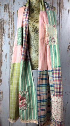 Oversize Ladies Up Cycled Patchwork Scarf, Re Style, Rustic, Uniquely Yours Sewing Scarves, Cozy Scarf, Couture, Sustainable Clothing, Scarf Hairstyles, Refashion, Diy Clothes, Nice Dresses, Cool Outfits