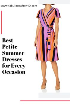 Have a look at these fabulous petite summer dresses that are guaranteed to look wonderful whatever you are doing. #petite #summerdress #womensfashion Stylish Dresses, Cute Dresses, Fashion Dresses, Over 50 Womens Fashion, Fashion Over 40, Summer Fashion Trends, Fashion Ideas, Women's Fashion, Dinner Date Dresses