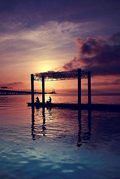 Sunrise at Penang Bridge - Kampong Batu Uban, Penang, Pulau Pinang, Malaysia