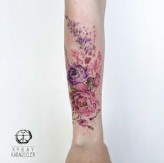 Splendid+watercolor+peonies+by+Koray+Karagozler
