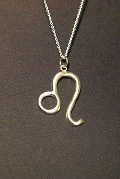 zodiac jewelry Leo jewelry horoscope sign symbol necklace sterling silver unique creation modern design fine jewelry summer necklace