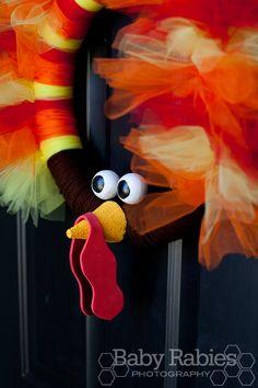 Thom The Turkey Tulle Wreath Tutorial