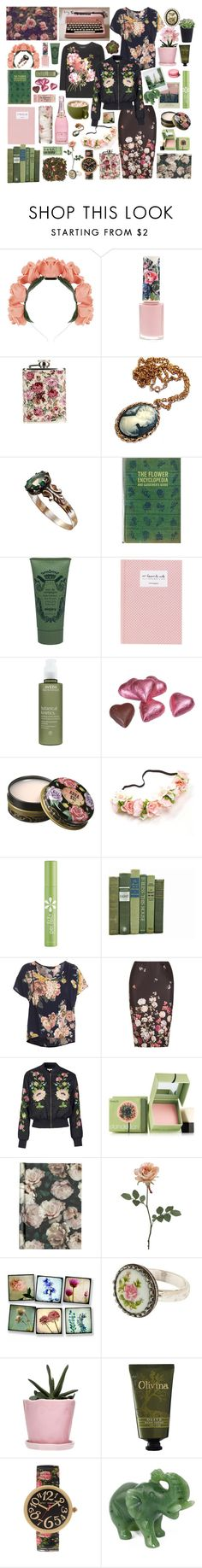 """A Style Inspired by Floral Bouquets"" by bnspyrd ❤ liked on Polyvore featuring Gucci, Paul & Joe, Polaroid, Sisley, Aveda, Anna Sui, Per-fékt Beauty, Miss Selfridge, New Look and Topshop"