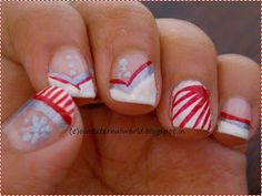 Our External World - Makeup and Beauty Blog: Christmas Nail Art - Candy Cane Nails With Tutorial