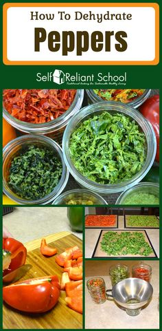 Step by step instructions on how to dehydrate peppers, plus how to make pepper powder. I discuss both sweet and hot peppers. #beselfreliant via @sreliantschool