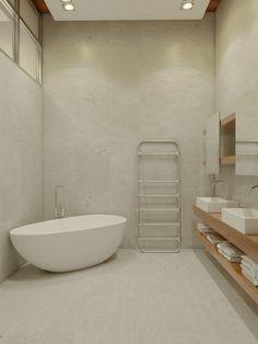 Grote badkamer met hoog plafond   Huis-inrichten.com