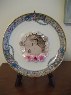 Now THIS is an idea for repurposing orphan china saucers that I never would have thought of!