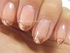 """Rose Gold"" french manicure // #nailart"