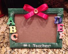 4x6 teacher picture frame on Etsy, $8.99
