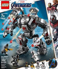 Shop LEGO Marvel Super Heroes War Machine Buster 76124 at Best Buy. Find low everyday prices and buy online for delivery or in-store pick-up. Avengers Team, Lego Marvel's Avengers, Lego Marvel Super Heroes, Films Marvel, Marvel Avengers Movies, Shop Lego, Buy Lego, Univers Marvel, Costumes Avengers