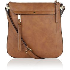 Accessorize Messenger Across Body Bag (£23) ❤ liked on Polyvore featuring bags, brown cross body, messenger bags, brown crossbody bag, brown crossbody and cross body messenger bag
