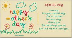Attività Creative Per Bambini  Mother's day poem