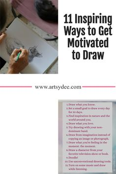 Wondering how to get motivated to draw? If you are an artist or know one that needs some motivation to draw, this blog post is for you! 11 Inspiring ways to get motived to draw! Online Drawing Course, Bad Drawings, How To Get Motivated, Still Life Drawing, Drawing Exercises, How Do I Get, Art Journal Inspiration, Art Journal Pages, Drawing Tools