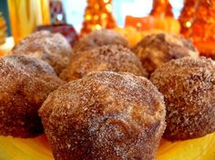 Sweet Potato Muffins with Cinnamon Sugar Coating (think of them as doughnuts that aren't fried and contain sweet potatoes, which makes them more like health food. Right? Okay, probably not. They are delicious.)  #pinterestrecipesmade