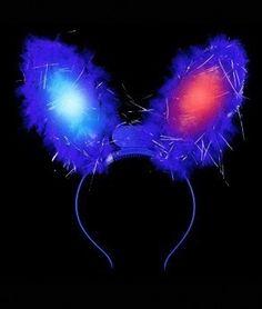 Vincha orejas de conejo luminosa con luz led