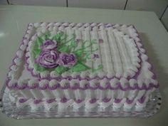 Tortas Buttercream Birthday Cake, Buttercream Fondant, Cake Icing, Wedding Sheet Cakes, Birthday Sheet Cakes, Pretty Cakes, Beautiful Cakes, Sheet Cake Designs, Foto Pastel