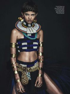 Publication: Vogue Australia April 2014 Model: Marina Nery Photographer: Sebastian Kim Stylist: Katie Mossman Hair: Bok-Hee Make-up: Mariel Barrera Estilo Tribal, Estilo Hippie, Foto Fashion, Fashion Art, High Fashion, Womens Fashion, Fashion Design, Trendy Fashion, Style Fashion