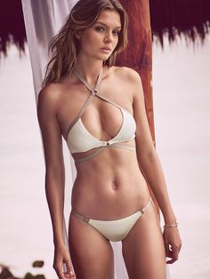 Strappy Wrap Halter in Seasalt $52.50- Very Sexy - Victoria's Secret   JOSEPHINE SKRIVER!