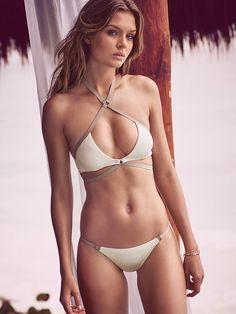 Strappy Wrap Halter in Seasalt $52.50- Very Sexy - Victoria's Secret   JOSEPHINE SKRIVER!