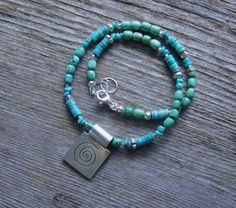 Kingman Mine turquoise and Sterling Silver Pendant  DianesAddiction  $110.00